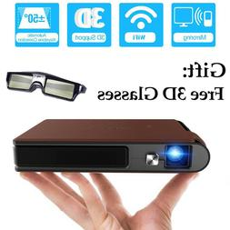 CAIWEI Full HD 3D WIFI Projector Video 1080P LED Home Cinema