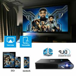 EUG 3600LMS DLP 3D WIFI Projector 1080P Wireless Movie Home