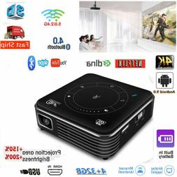 KINGSLIM 4000 Lumens Android HD 1080P 3D Home Cinema Project