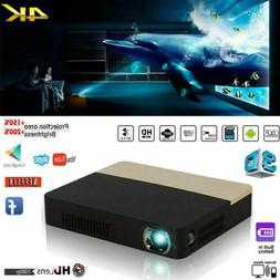 True 8500 Lumens 4K HD 1080P DLP Projector 3D Wifi Home Thea