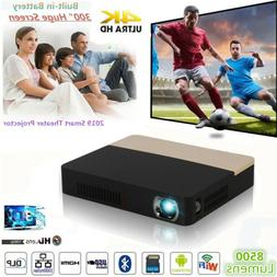 8500Lumens Android 1080P 4K DLP WIFI 3D Home Cinema Projecto