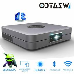 WZATCO D1 DLP 3D Projector 300inch Home Cinema support Full