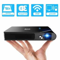 EUG Full HD WIFI DLP Projector Movie 3D Home Theater HDMI US