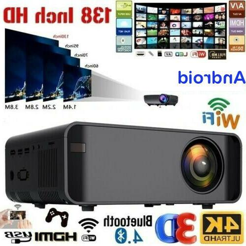 3500Lumen 1080P 3D 4K Wifi Home Cinema HDMI