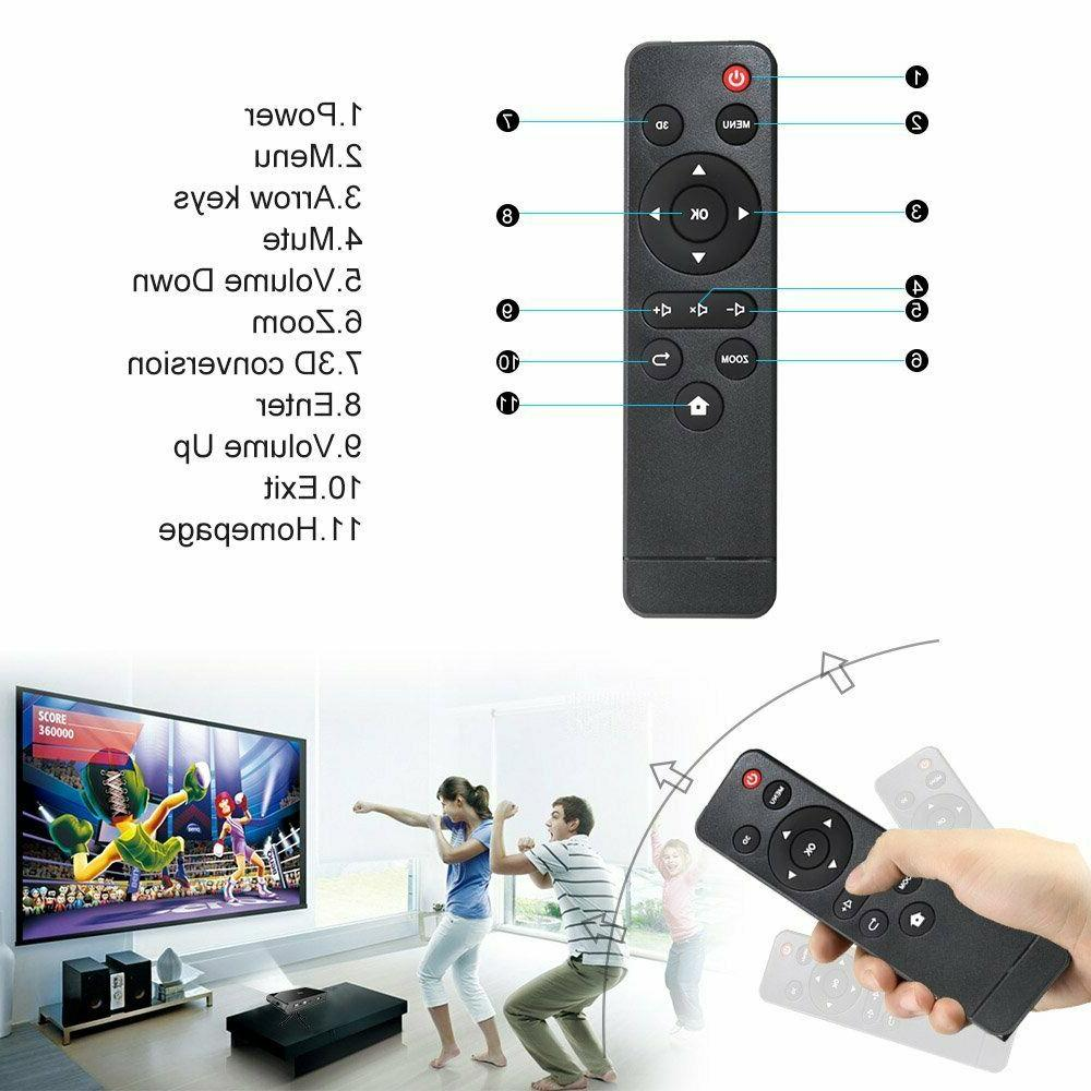 3D Projector High Brightness 1080p Airplay iOS Mirroring