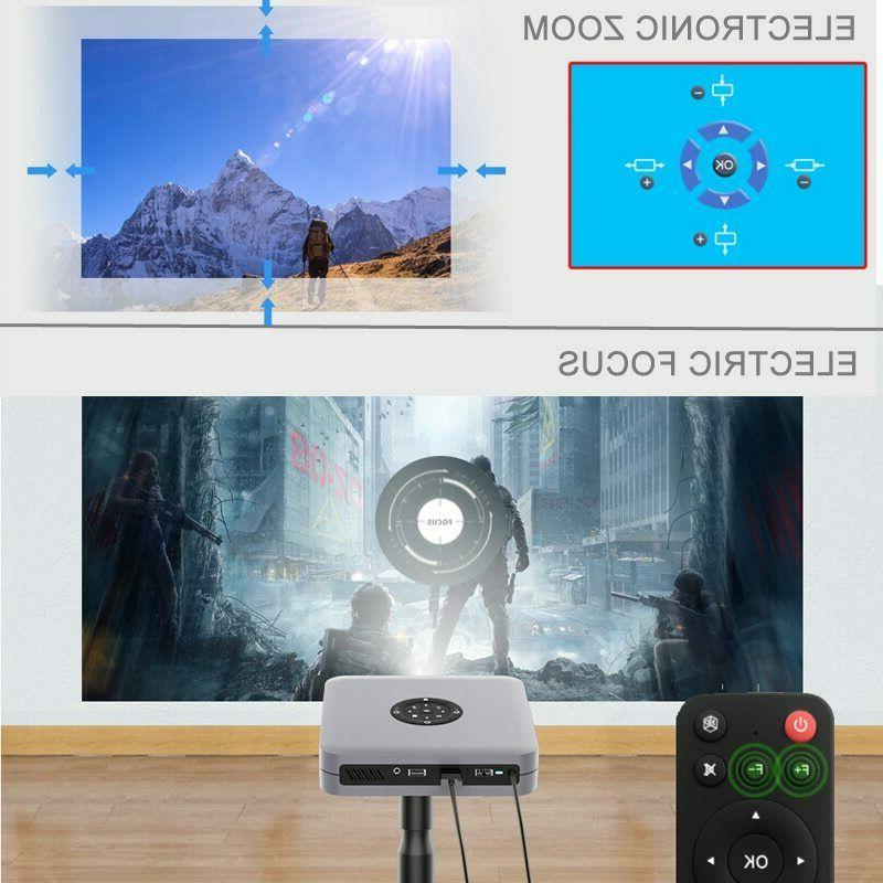 WZATCO D1 DLP Projector 300inch Home support Full HD