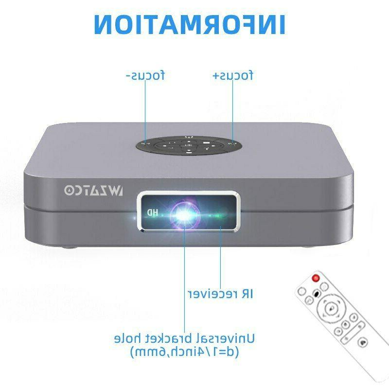 WZATCO D1 DLP 3D Projector 300inch Home support 1920x1080P,32GB