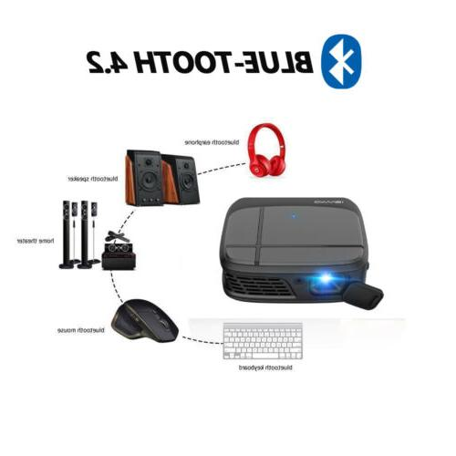 CAIWEI HD DLP Projector Android tooth USB HDMI USB