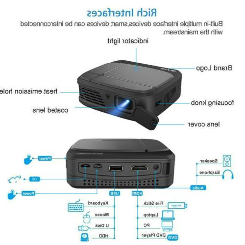 CAIWEI Projector Android Blue tooth Presentation USB HDMI USB