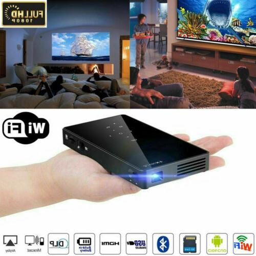 mini 3000lumens dlp android wifi home theater