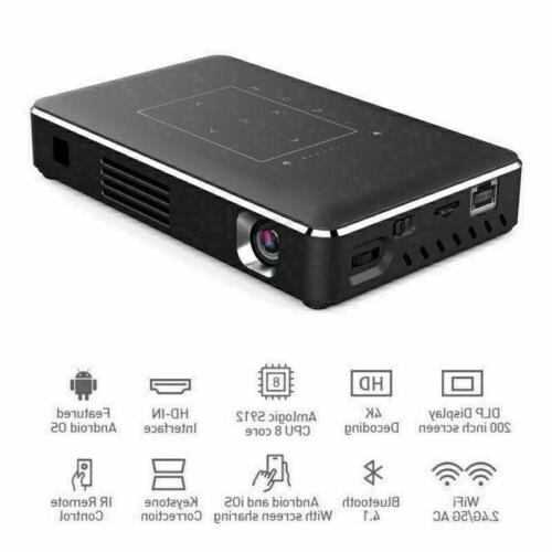 Mini Android DLP Home Projector USB HDMI in
