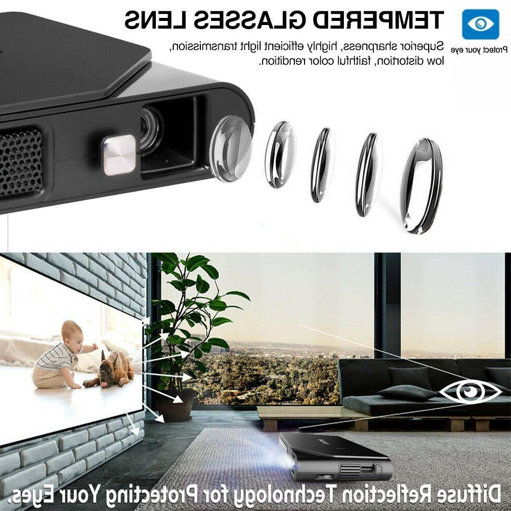 3D Projector High Brightness Support 1080p Airplay iOS Wirelessly