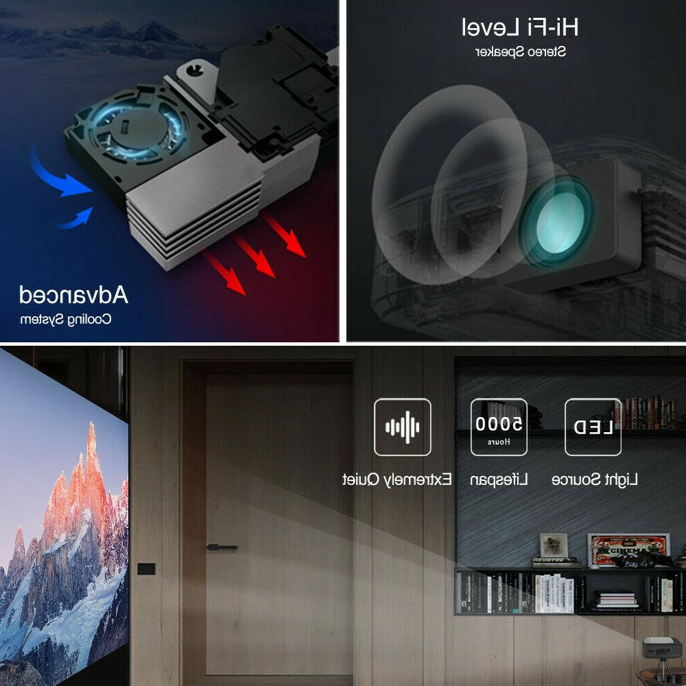 Pico HD 7.1 WIFI Projector Blue tooth HDMI
