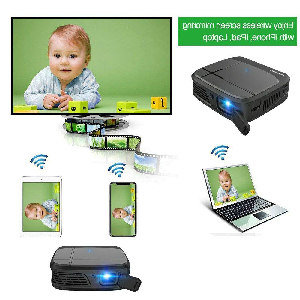 Pico Size Android 7.1 WIFI Projector Blue tooth Home Movie HDMI DLP