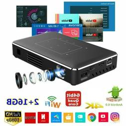 Mini Pocket Android DLP Projector 4K Wifi HD 1080P Home Thea
