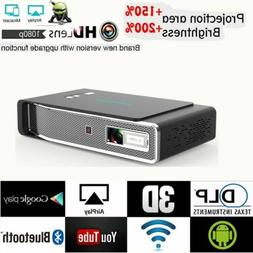 Portable 8500 Lumens Android 3D DLP 4K HD 1080P Projector Wi
